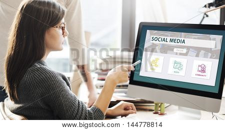 Social Media Share Community Graphic Concept
