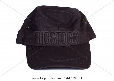 Closeup of baseball cap isolated on white background protection from sun