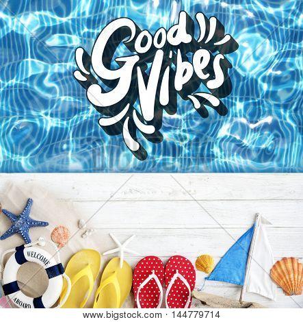 Good Vibes Positive Motivation Inspiration Concept