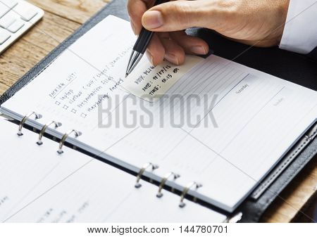 Appointment Checklist Planning Goals Date Time Concept