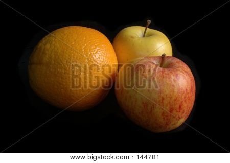 Orange And Two Apples