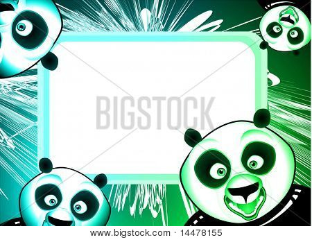 High detailed panda frame