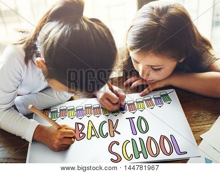 Back to School Education Knowledge Studying Learning Intelligence Concept