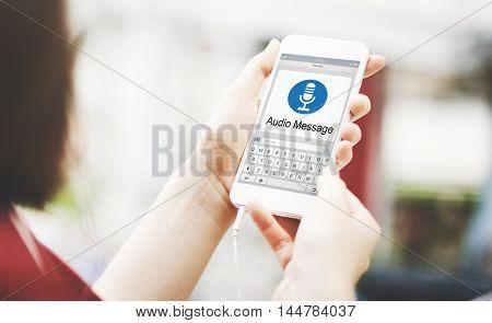 MIcrophone Media Communication Record Icon Concept