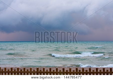 Grand bend on Lake Huron in Ontario Canada has beautiful sunsets but also some awesome summer storms that roll in over the lake