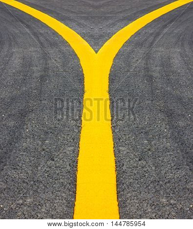 road texture yellow line for design textures and background.