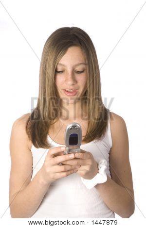 Pretty Teen Dialing Cellular