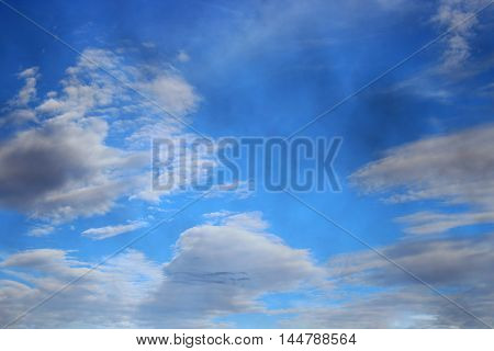 blue sky with raincloud. raincloud motion beautiful in nature