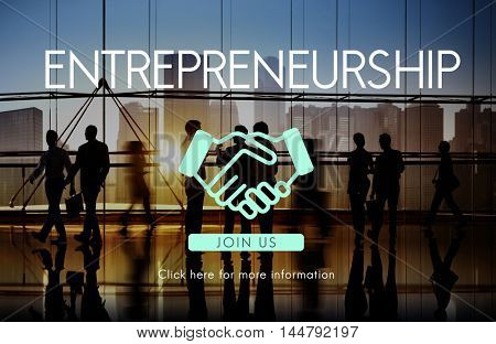 Entrepreneurship Corporate Enterprise Dealer Concept