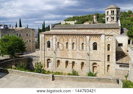 Monastery of Sant Pere de Galligants exterior, Girona, Catalonia, Spain