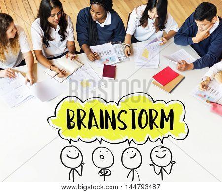 Brainstorm Business Work Discussion Concept