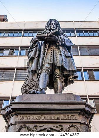 Leibniz Denkmal Leipzig Hdr