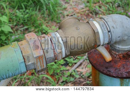 Water valve Plumbing Steel dilapidated. old rusty industrial tap  pipe.   :Close up, with shallow depth of field :