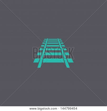 Railroad Icon. Modern Design Flat Style