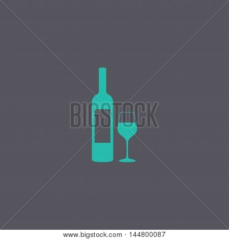 Wine Bottle And Glass Silhouette