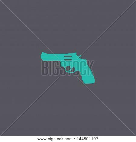 Revolver Icon. Vector Concept Illustration For Design