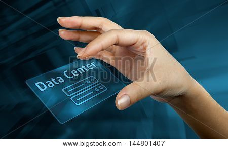 digital card with the word data center