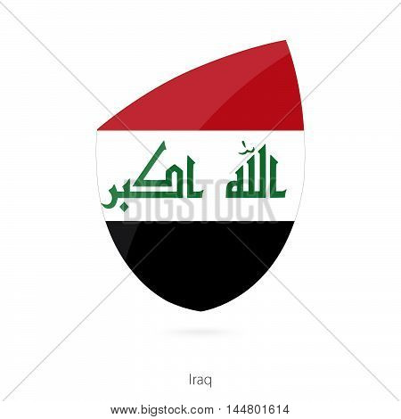 Flag of Iraq in the style of Rugby icon. Vector Illustration.