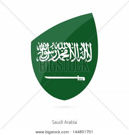 Flag of Saudi Arabia in the style of Rugby icon. Vector Illustration.