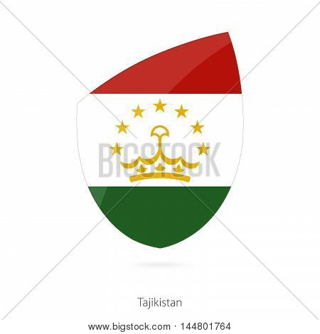 Flag of Tajikistan in the style of Rugby icon. Vector Illustration.