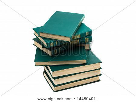 stack of book on a white background