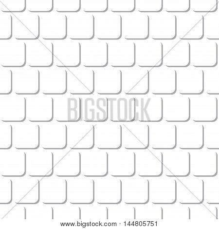 Abstract Round Rectangle Square Seamless Pattern Background