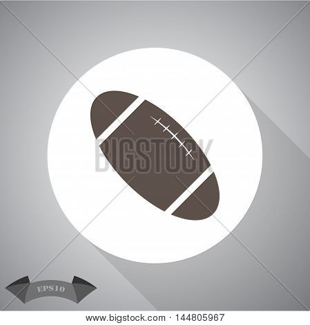 Rugby ball sport vector icon for web and mobile