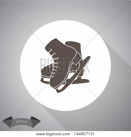 Figure skates sport vector icon for web and mobile