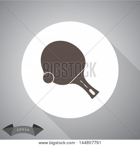 Table tennis sport vector icon for web and mobile