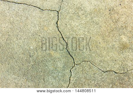 cement wall cracked for design textures and background.