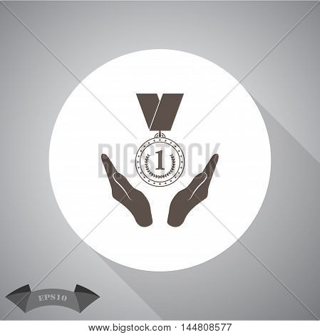 Medal sport vector icon for web and mobile