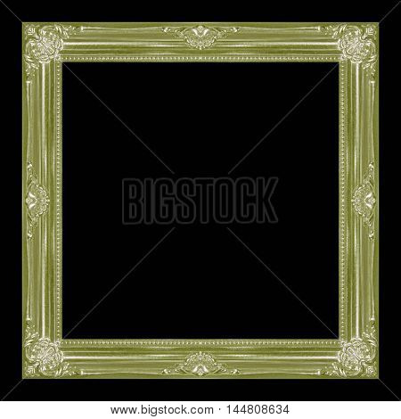 frame wooden picture frame Old isolated on a black background.