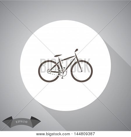 Bicycle sport vector icon for web and mobile