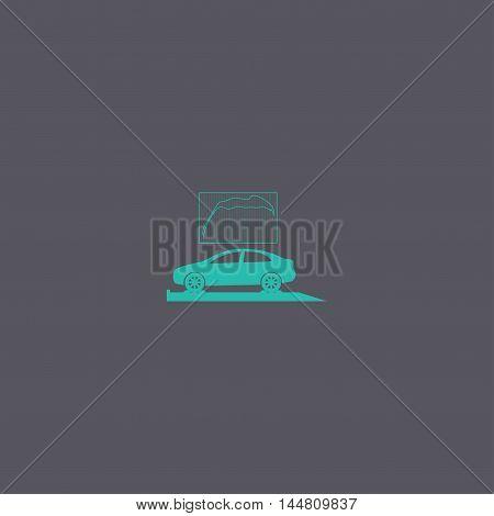 Car Service Icon Flat Design Style