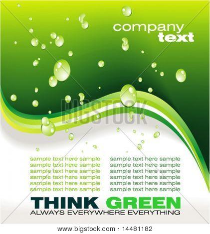 VECTOR negocio colorido ecología verde de fondo