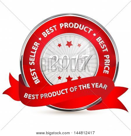 Best product of the Year 2017 - red shiny ribbon