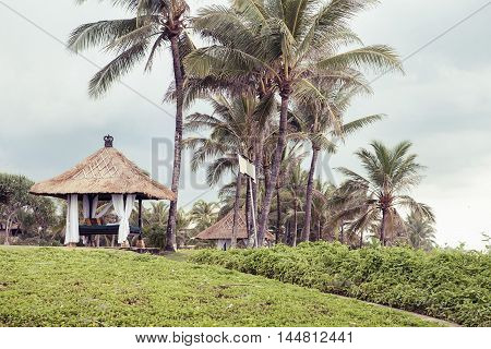 Tropical Paradise. Dominican Republic, Seychelles, Caribbean, Mauritius, Philippines, Bahamas Relaxing on remote Paradise beach Vintage