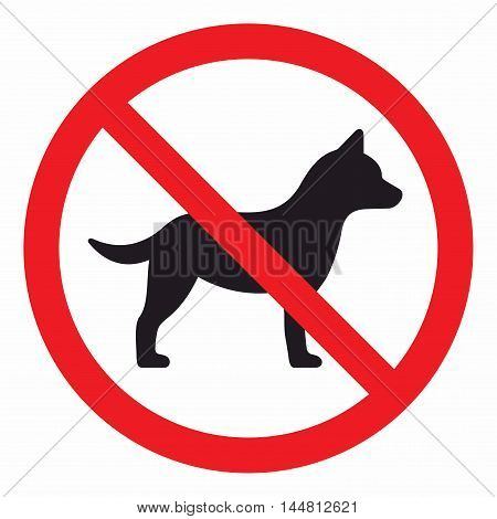 No dogs sign, zone where dogs and other pets are not allowed.
