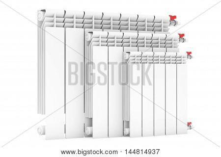 Modern Heating Radiators on a white background. 3d Rendering