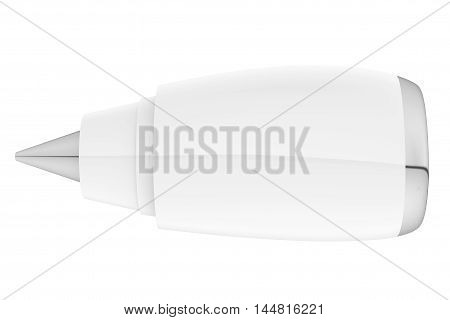 Aircraft Jet Engine on a white background. 3d Rendering