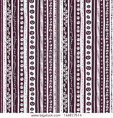 White And Pirple Seamless Background Abstract Striped Pattern For Halloween With Pumpkin,  Candy, Gh