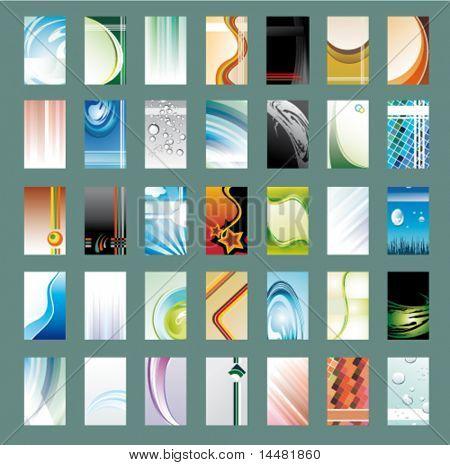 Vektor-Sammlung von 35 abstrakte Visitenkarte