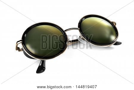 Stylish sunglasses, isolated on white