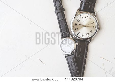 A couple of wristwatch Essential item of man and woman