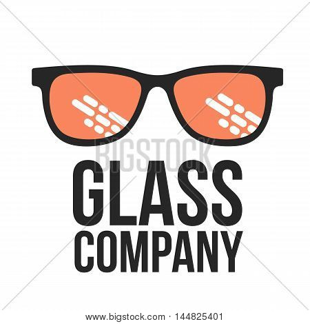 Glasses logo, vector illustration isolated on white background. Round, square, aviator, cat eye glasses icons, colorful logo. Retro and modern style eyeglasses logo