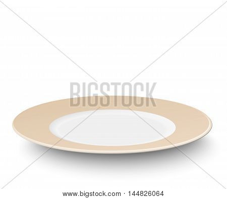 Empty vector color plate isolated on white background