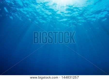 Underwater blue sea background photo