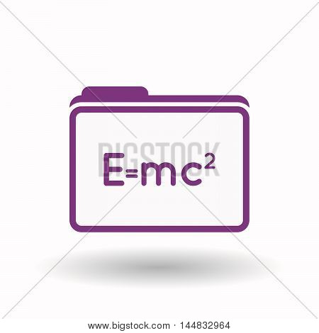 Isolated  Line Art Folder Icon With The Theory Of Relativity Formula
