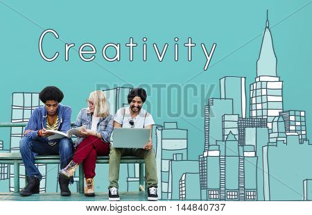 Creativity Design Drawing Ideas Cityscape Concept