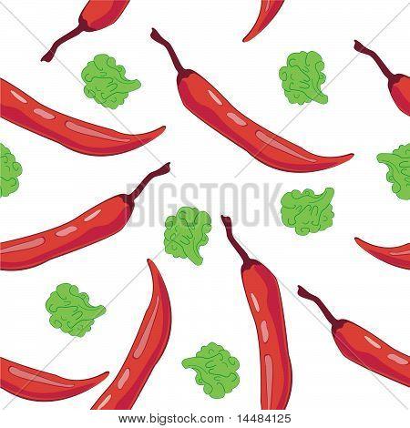 Seamless Chili Pepper wallpaper